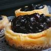 ブル-ベリーのベイクドチーズケーキ