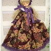 MSD  古代紫百花繚乱和柄のドレス