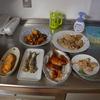 幸運な病のレシピ( 1545 )朝:かぼちゃバラ肉炒め煮、[ 鳥手羽麹・モモ・鮭・イワシ麹漬 ]焼き、味噌汁仕立直し