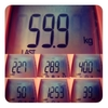 今週の体重、59.9kg。