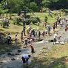 「合言葉は山?」「川!」 丸子の川のお祭り 霊泉寺温泉クリーンフェスタ