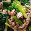 豚肉と青ネギの炒め物