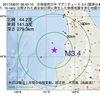 2017年08月31日 06時40分 北海道西方沖でM3.4の地震