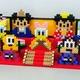【アイロンビーズ3D】ミッキー&フレンズ、ひな飾り(三段飾り)