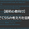 【超初心者向け】HTMLとCSSの考え方を図解で解説