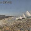 霧島連山・硫黄山では南西側で小さな湯だまりを確認!灰色の熱水が流出!!