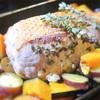豚ロース肉と野菜のグリル、タイム風味