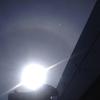 光輪のような彩雲