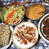 宮城森林鶏のケバブ風と豆とオクラのマサラ炒め