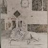 日本画 盛り上げ胡粉でヨーロッパの古城
