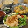 玄米御飯と生姜焼き、肉じゃが