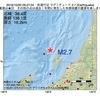 2016年10月20日 09時27分 佐渡付近でM2.7の地震