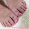 初めてのフットジェルに願いを込めて♡ピンクと桜の「サクラサク」ネイル☆合格祈願