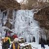 奈良の山奥に氷瀑=凍った滝を見に行く。