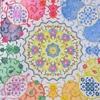「イスラム文様とモザイクのぬり絵ブック」をセーラームーンの配色で塗ってみた