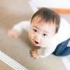 娘(生後10ヶ月)の階段対策として、つっぱり棚を応用してみた。