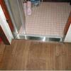 浴室入り口、敷居と床修理(水腐れ補修の事例)