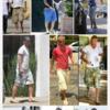 ベッカムが履いてるカーゴショーツはアバクロのものが多い