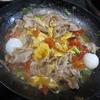 献立日記「豚肉のトマト卵炒め」「タケノコとわかめのゴマ炒め」