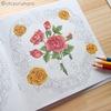 【3色塗り】(黄色編)ダイソー塗り絵「花の国」を赤・青・黄の色鉛筆3色で塗ってみた