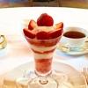 【資生堂パーラー銀座本店】糖質オフの苺パフェが食べられる店。