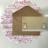 【手作り】easyにメッセージカード作ってみた   #07ミッフィー