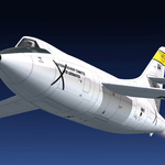 """FSX Douglas D-558-2 Skyrocket_Rocket model ""has been updated to v1.1."
