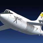 """FSX Douglas D-558-2 Skyrocket_Rocket model ""has been updated to v1.1."