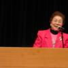 21日、県女性9条と24条の会集会。高橋哲哉東大教授が講演し平和と平等実現のために憲法を守るのは当然としつつ、日米安保体制からの脱却の必要性を力説。