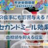 【ダイエット】セカンドミール効果~朝食の次の食事まで血糖値対策で痩せる?!
