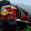 わたらせ渓谷鐵道でDE10牽引のトロッコ列車の撮影