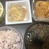 手作りドレッシングと鯖缶の煮物