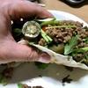 自宅で作る最高のタコス。お肉も野菜もたっぷりと!!