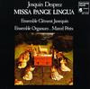 『Josquin Desprez: Missa Pange Lingua』 Ensemble Clément Janequin/Ensemble Organum