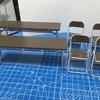 【簡易プラモ作り】部室の机と椅子【ハセガワさん】