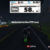 ローラー62、Zwift - FTP Test (shorter)