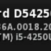 D54250WYKにUbuntuを入れてみたが、シャットダウンできない...