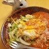 ミートスパゲティ白菜たまごのせ