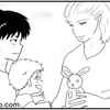 動物園に行こう、くま編2【国際結婚×パパ三人×子育て漫画】