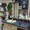 古い賃貸DIY~洗面所➍~鏡にフレームをつけてみる