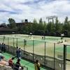 県新人テニス大会シングルス予選初日