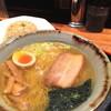 ●蓮田市「まんぼう」の塩ラーメン半炒飯セット