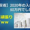 【投資成績】2020年の入金は50万円でしたw