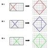 図形を4分割して正方形を再構成する問題(1)の解