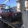 八王子市からパンクした車検切れ故障車をレッカー車で廃車の出張引き取りしました。