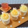 お手軽スイーツ\(*⌒0⌒)b♪バラが可愛い…桃のショートケーキ♪♪