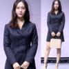 ストラップヒルと環状相性ブラックワンピースファッション