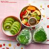 #530 茹で野菜サラダと明太子お握り弁当