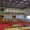 船橋市の令和3年度市制施行方針と予算案についての質疑が始まります。