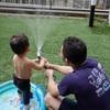 本日14日は休館日です&お庭でプール。